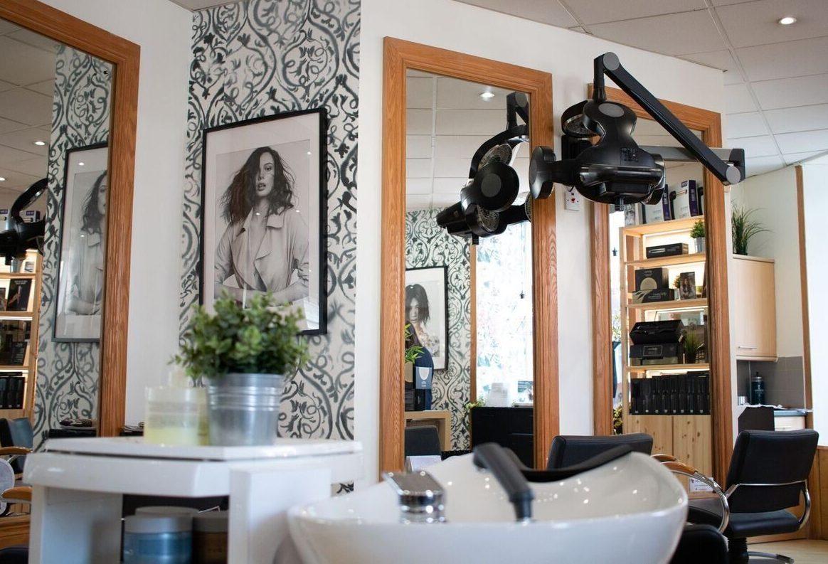 Inside salon